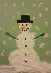 Puffy Snowman Paint Example